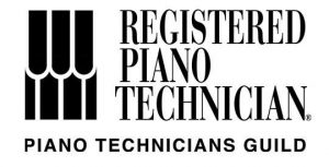 An Image Of The Registered Piano Technician PTC Logo Put On By Emrich Piano Service