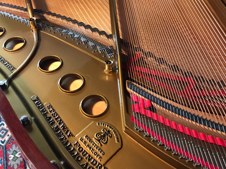 An Image Of Steinway Grand Piano Strings Put On By Emrich Piano Services